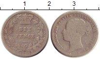 Изображение Монеты Великобритания 6 пенсов 1880 Серебро VF-
