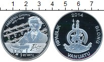 Изображение Монеты Вануату 20 вату 2014 Серебро Proof