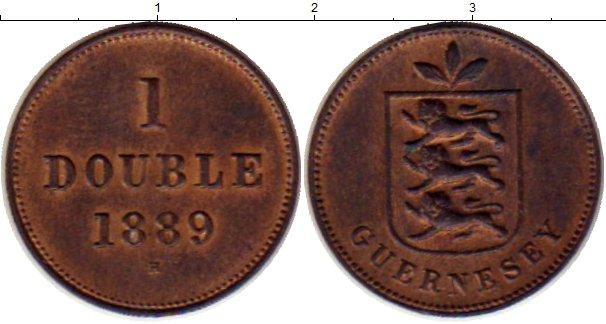 Картинка Монеты Гернси 1 дубль Медь 1889