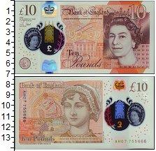 Изображение Банкноты Великобритания 10 фунтов 2017  UNC В новом дизайне. 201