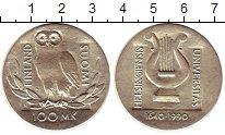 Изображение Монеты Финляндия 100 марок 1990 Серебро UNC Сова. Университет Хе
