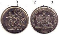 Изображение Монеты Тринидад и Тобаго 10 центов 2008 Медно-никель UNC-