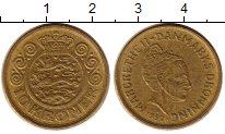 Изображение Монеты Дания 10 крон 1997 Латунь XF Королева Маргрете II