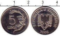 Изображение Монеты Албания 5 лек 1995 Медно-никель UNC- Герб Албании