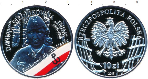 Картинка Подарочные монеты Польша 10 злотых Серебро 2017