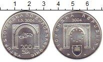 Изображение Монеты Словакия 200 крон 2004 Серебро UNC-