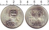 Изображение Монеты Словакия 200 крон 1995 Серебро UNC- 200 лет со дня рожде