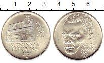 Изображение Монеты Словакия 200 крон 2003 Серебро UNC- 100 лет со дня рожде