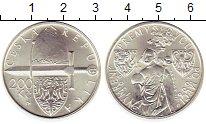 Изображение Монеты Чехия 200 крон 2006 Серебро UNC-