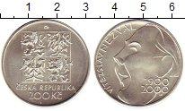 Изображение Монеты Чехия 200 крон 2000 Серебро UNC-