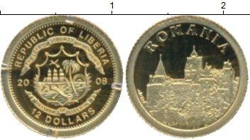 Картинка Монеты Либерия 12 долларов Золото 2008