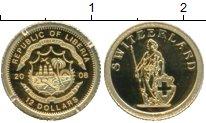 Изображение Монеты Либерия 12 долларов 2008 Золото Proof Швейцария. Проба 999
