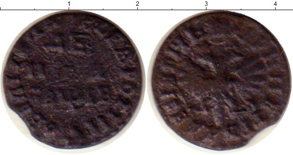 Картинка Монеты 1689 – 1725 Петр I 1 деньга Медь 0