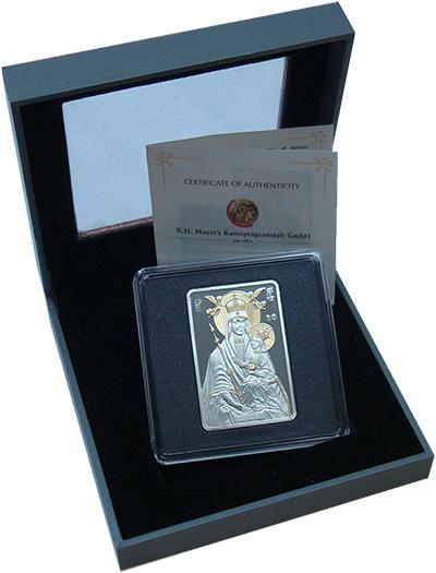Изображение Подарочные монеты Беларусь 20 рублей 2014 Серебро Proof Икона Пресвятой Бого