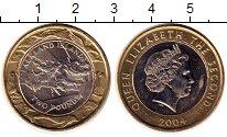 Изображение Мелочь Фолклендские острова 2 фунта 2004 Биметалл UNC- 30 лет Чеканки монет
