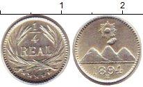 Изображение Монеты Гватемала 1/4 реала 1894 Серебро UNC