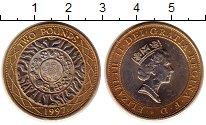 Изображение Монеты Великобритания 2 фунта 1997 Биметалл XF+ Елизавета II (год/ти