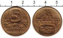 Изображение Монеты Финляндия 5 марок 1983 Латунь XF `Ледокол ``Урхо```
