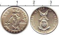 Изображение Монеты Филиппины 10 сентаво 1944 Серебро UNC- Американская  админи