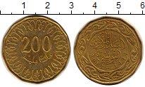 Изображение Монеты Тунис 200 миллим 2013 Латунь XF+ Арабская вязь