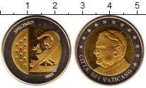 Изображение Монеты Ватикан 2 евро 2005 Биметалл UNC Понтифик  Бенедикт X