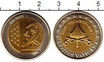 Изображение Монеты Ватикан 2 евро 2005 Биметалл UNC Проба