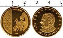 Изображение Монеты Ватикан 50 евроцентов 2005 Латунь UNC- Пробник.