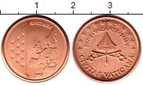 Изображение Монеты Ватикан 2 евроцента 2005 Бронза UNC Престол  вакантен.