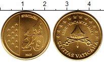 Изображение Монеты Ватикан 20 евроцентов 2005 Латунь UNC Престол  вакантен.