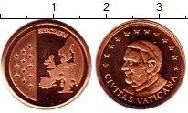 Изображение Монеты Ватикан 1 евроцент 2010 Бронза UNC Пробник.