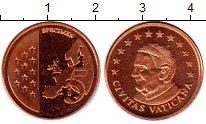 Изображение Монеты Ватикан 5 евроцентов 2010 Бронза UNC Пробник.