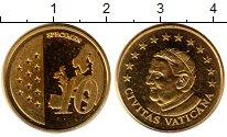 Изображение Монеты Ватикан 10 евроцентов 2010 Латунь UNC Пробник.