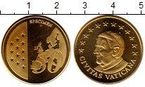 Изображение Монеты Ватикан 50 евроцентов 2010 Латунь UNC Пробник.