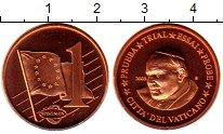 Изображение Монеты Ватикан 1 евроцент 2005 Бронза UNC Понтифик  Иоанн  Пав