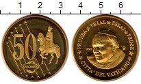 Изображение Монеты Ватикан 50 евроцентов 2005 Латунь UNC Проба.