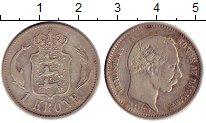 Изображение Монеты Дания 1 крона 1875 Серебро XF