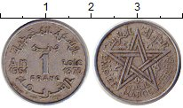 Изображение Монеты Марокко 1 франк 1948 Алюминий VF