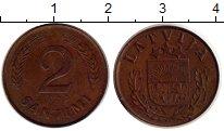 Изображение Монеты Латвия 2 сантима 1939 Медь XF