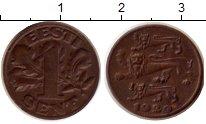 Изображение Монеты Эстония 1 сент 1929 Медь VF