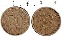 Изображение Монеты Эстония 20 сенти 1935 Медно-никель VF