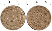 Изображение Монеты Эстония 25 сенти 1928 Медно-никель XF