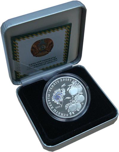 Изображение Подарочные монеты Казахстан Алматинский апорт 2009 Серебро Proof
