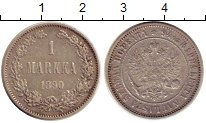 Изображение Монеты 1881 – 1894 Александр III 1 марка 1890 Серебро XF