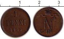 Изображение Монеты 1894 – 1917 Николай II 1 пенни 1907 Медь XF