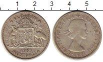 Изображение Монеты Австралия 1 флорин 1953 Серебро XF