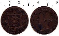 Изображение Монеты Остров Джерси 1/13 шиллинга 1870 Медь VF Виктория