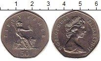 Изображение Монеты Великобритания 50 пенсов 1982 Медно-никель XF Елизавета II