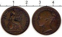 Изображение Монеты Великобритания 1 фартинг 1843 Медь XF