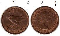 Изображение Монеты Великобритания 1 фартинг 1953 Медь XF Елизавета II