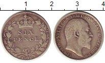 Изображение Монеты Великобритания 6 пенсов 1910 Серебро VF